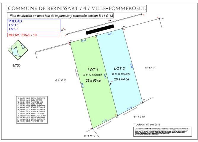 Terrain à bâtir - Pommeroeul - #3850989-0
